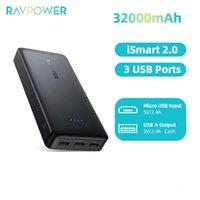 전원 32000mAh 3 포트 USB PowerBank 6A 출력 휴대용 충전기 MacBook Pro 11 용 외부 배터리