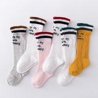Sommer Kinder Socken für Mädchen Kinder Regenbogen Mütze Atmungsaktives dünnes britisches Stil Knie 0-3 Jahre
