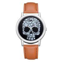 Wristwatches Fashion Retro Skull Watches Casual Women Leather Band Quartz Ladies Dames Horloges Vrouwen