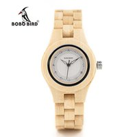 Armbanduhren Bobo Bird O10 Bambus Frauen Uhren Kristallzifferblatt Damen Quarz Kleid Uhr in Holzkiste