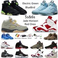 Air Jordan Jumpman 5 Jade Horizon 6s Red Oreo masculino basquete 5s Racer Blue Bluebird Raging Bull 6 UNC Electric Green Bordeaux Gold Hoops Hare esportivo masculino com caixa