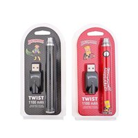 Backwoods Cookies TWIST Slim Pen 510 Thread Vape Battery Kit Adjustable Voltage 1100mAh Preheat for m6t th205 D8 Oil Carts with USB