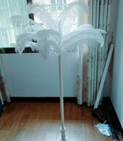 Современная белая тема страуса перо свадьба свадьба DIY украшения проход бегунок дороги ведущий вечеринка обеденные столовые деревья подарки
