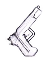 Hookahs Pistola Bubbler mão segurada de vidro colorido arma de vidro fumante de óleo de queimador de água tubos de água acessórios de erva