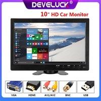 Auto-Video-10-Zoll-Monitor-IPS-Display mit VGA-HDMI-USB-Schnittstellen-Kameras Reverse-Bild-Flip 2-Kanal-Sicherheitspaket-System