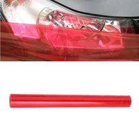 Verkauf 120 * 30 cm Auto Auto Lichtscheinwerfer TAllight Tint Vinyl Film Aufkleber Blatt Licht Schwarz Auto Licht Farbe Wechseln AufkleberFree