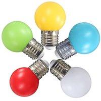 Birnen 1 Paar 2W Bunte Globus Licht LED Birne E27 Energieeinsparlampe Beleuchtung Lampada Bombillas Wohnkultur Drop