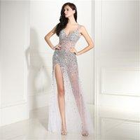 See through evening dresses sequin beading luxury zuhair murad sexy women evening gown prom dress 2018