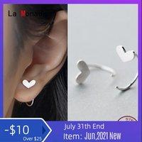 Hoop & Huggie La Monada Heart Earrings For Women Silver 925 Hook Fine Jewelry Small
