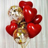 Rubí de 10 pulgadas en forma de corazón en forma de corazón, globo, ceremonia de boda, ceremonia de boda, decoración de la etapa del partido