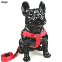 Red Fashion Chest Strap Suitable For Medium And Large Styles With Metal Buckle Material Link Durable Leather Dog Collar Collars & Leashes