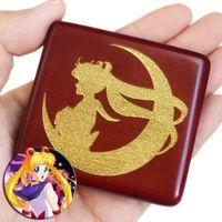 Sinzyo Handmade Wooden Sailor Moon Box di musica regalo di compleanno per Natale / Compleanno / San Valentino Confezioni regalo 210319