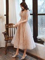Champagne evening dress women usually can wear party temperament Celebrity Bridesmaid Dress super xiansen