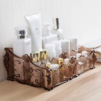 Plastic Makeup Bathroom Storage Box Cosmetic Organizer Desktop Make Up Jewelry Case Sundries Table Container Boxes & Bins