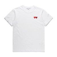 Classic Play Unisex Camiseta # P022 Moda de manga corta de verano Harajuku Lujos Estilista Estilista Patrón de Hombres Mujeres Diseñadores CDG Casual Hip-Hop Tops