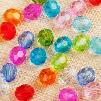 1KG 9600pcs Loose Beads Acrylic 6 8 10 12 14 16 18 20mm Rondelle Faceted Spacer Bead for Handmade DIY Necklace Bracelet Jewelry Making Wholesale