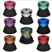 Bicicletta Ski Skull Mezza Face Mask Ghost Sciarpa Magic FountesCarf Multi Utilizzo Maschere da ciclismo Halloween Accessori Cosplay JJA96