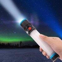 Antorcha eléctrica zoomable de alta resolución de 8 modos portátiles LED para cazar urgencias de emergencia linternas al aire libre