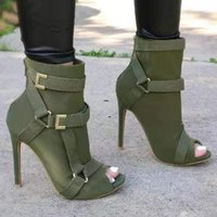 Boots 2021 Summer Large Size Women's Shoes 21 Spring And Fish Mouth Sandals Belt Buckle Bag Heel High Top Fashio