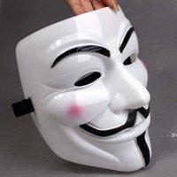 NewParty Masks V for vendetta máscaras Anonymous Guy Fawkes Disfraz de fantasía accesorio adulto accesorio de plástico Party Cosplay Máscaras GWB11063