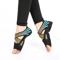 Spor Çorap 1 Çift Kadın Yoga Kaymaz Salon Fitness Masaj Spor Bayanlar Beş Parmak Backless Bale Dans
