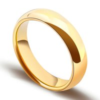 Simple golden engagement ring Tungsten Ring male female 2   4 5 6 8mm wide free delivery 4-12 J0525