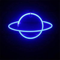Night Lights Planet Bar Neon Sign Light Party Wall Hanging LED For Xmas Shop Window Art Decor Lamp USB Or Battery Powered