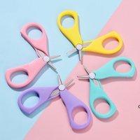 Baby Nail Scissors Curto Crianças Cuidados Cuidadores Cuidadores Segurança Aço Inoxidável Cabeça Redonda Scissor DHD5824