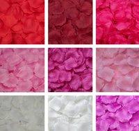 2021 بتلات الحرير بتلات البتراس الزفاف الزينة الاصطناعي البوليستر الزهور confetti 55 ألوان الزفاف الديكور الزهور