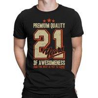 Mens 21st aniversário t-shirt 21 anos de Awesomeness pai filho irmão engraçado presente