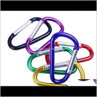 Rings Jewelry Drop Delivery 2021 Carabiner Ring Keyrings Key Chain Outdoor Sports Camp Snap Clip Hook Keychains Aluminum Metal Stainless Stee
