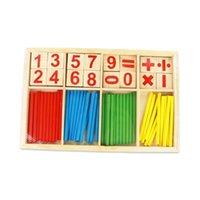 Montessori Tellen Stick Math Speelgoed voor Kinderen Houten Educatief Berekeningsnummer Kaarten Tellen Rods Rekenkundige Kinderen Speelgoed H1009