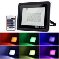 110 V / 220 V RGB LED Işıklandırmalı 20 W 30 W 50 W 100 W Açık Duvar Yıkama Lambası Reflektör IP68 Su Geçirmez Bahçe Aydınlatma Sel Işık Projektörleri
