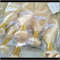 Extensiones virgen Las tramas brasileñas rubias color 613 peruano indio mongol camboyano paquetes Uly4F tejidos OHFBA