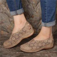Sandals Women Wedges Shoes For Female Retro Heels Summer Lady 2022 Comfortable Breathable Platform