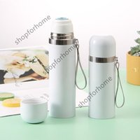 Sublimation White Blank Thermos Mug Tumbler 350ml 500ml Portable DIY Insulated Cup Stainless Steel Vacuum Flask Thermal Water Bottle Christmas Gift