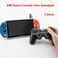 New X40 Video Game 7.1 Inch LCD Portable Handheld Retro Game Console Video MP4 Player TF Card For NES 3000 Classic Games H0828