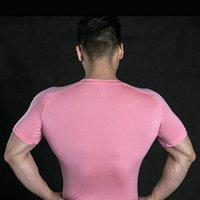 300 Männer Frühling Sporting Top Trikots T Shirts Sommer Kurzarm Fitness T-Shirt Baumwolle Herren Kleidung Sport T-Shirt