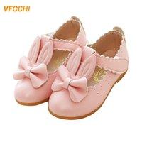Vfochi Leder für Kinder Low Heeled Bunny Tanz Kinder Prinzessinnen Teenager Mädchen Hochzeitsschuhe 210329