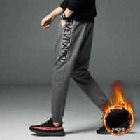 2021 Warm Men Harem Pants Hip Hop Casual Male Joggers Trousers Thick Veet Fashion Harajuku Sweatpants Bodybuilding