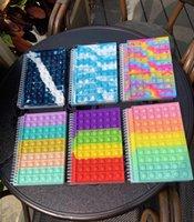 Nuevo Pop su burbuja de empuje Fidget Toys Notebook Niños Estrés Alivio Squeeze Toy Antistress Soft Squishy Niños Juguete DHL Envío
