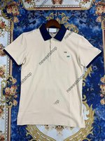 2021 여름 디자이너 망 폴로 클래식 자수 편지 인쇄 T 셔츠 협력 티셔츠 캐주얼 턴 다운 칼라 티셔츠 3 색