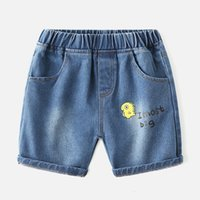 Koreanische Version Hole Jeans Shorts Fremd-Stil Baby-mittlerer dünner Sommer neue Kinder tragen Jungen fünf Punkthosen