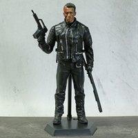 Brinquedos loucos O Terminator Genisys T-800 PVC Ação Figura Modelo Colecionável Toy 32cm
