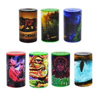 Yaratıcılık Plastik Yuvarlak Hap Kutusu Tutucu 165 ml Konteyner Saklama Kutusu Kuru Herb Tütün Çay Kutular Stash Çok Stilleri Baskı DHL