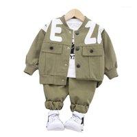 Clothing Sets Spring Autumn Toddler Casual Clothes Boys Baby Jacket T-shirt Pants 3 Pcs sets Kids Cartoon Costume Children Fashion Sport Sui1