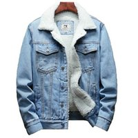 Winter Jean Jackets Men Warm Denim Coats Fashion Cowboy Outerwear Men Liner Thicker Fleece Denim Jacket Black Blue Plus Size 6XL 211025