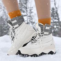 Stiefel Mode Schnee Mädchen Winter plus Größe 44 45 Plüsch Verdickung Frauen Wasserdichte rutschfeste rutschfeste 2021 Baumwollgepolsterte Schuhe