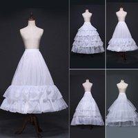 Skirts White A-Line Vintage Hoop Long Crinoline Petticoat Wedding Dress Slip Underskirt Fishtail Trailing Tiered Ruffles Ball Gown