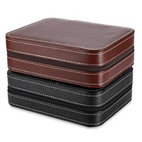 Watch Boxes & Cases Black Zippered Watches Box Travel Case - Organizer Collection PU Leather